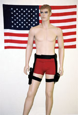 Total system displayed for a man, belt optional.