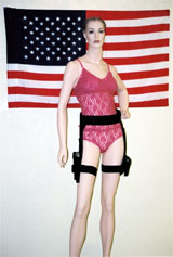 Total system displayed for a woman, belt optional.
